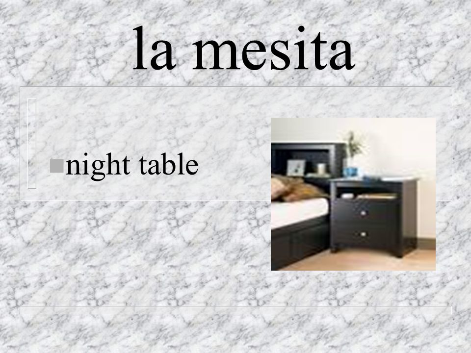 la mesita n night table