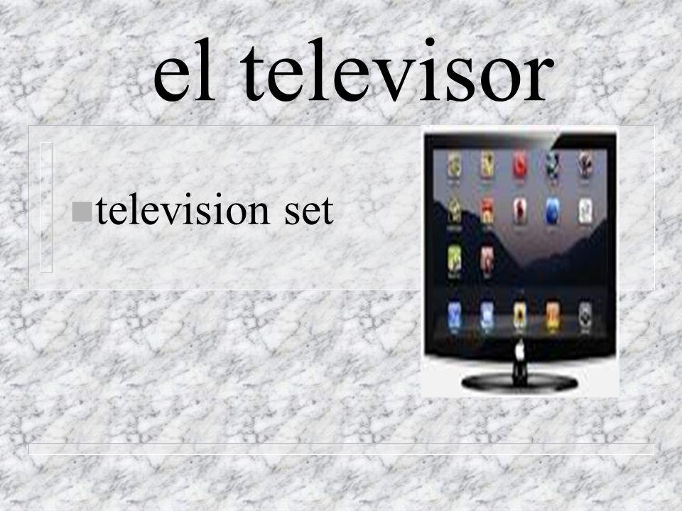 el televisor n television set