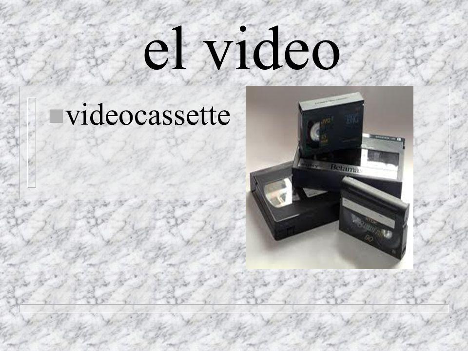 el video n videocassette
