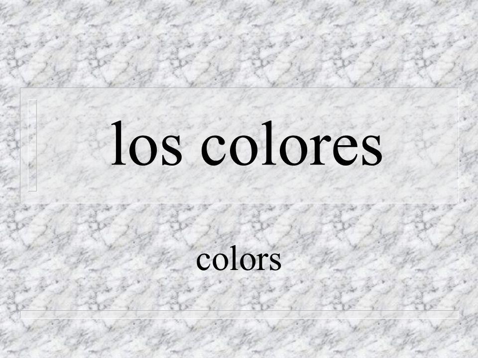 amarillo, -a n yellow