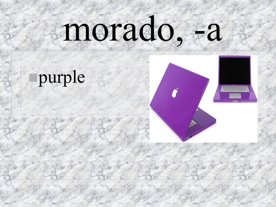 morado, -a n purple