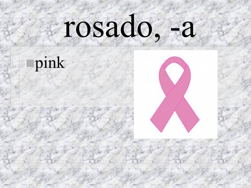 rosado, -a n pink