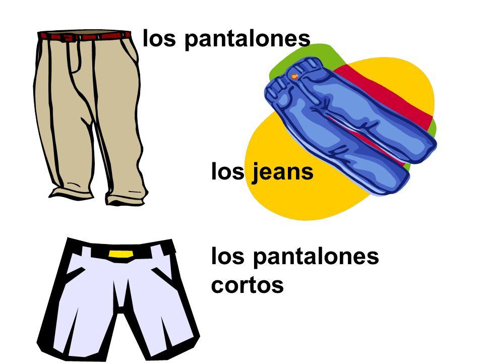 los pantalones cortos los pantalones los jeans
