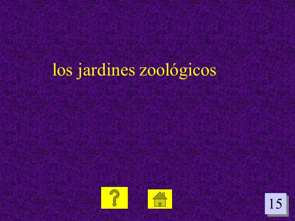 15 los jardines zoológicos