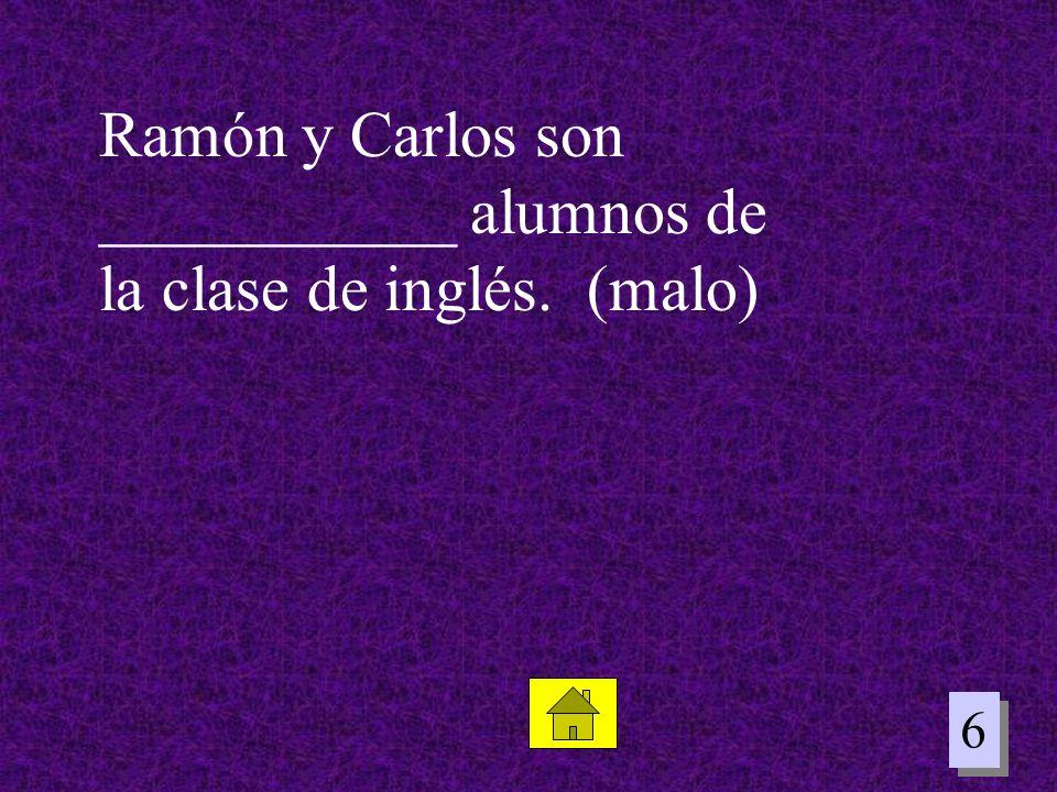 6 6 Ramón y Carlos son ___________ alumnos de la clase de inglés. (malo)