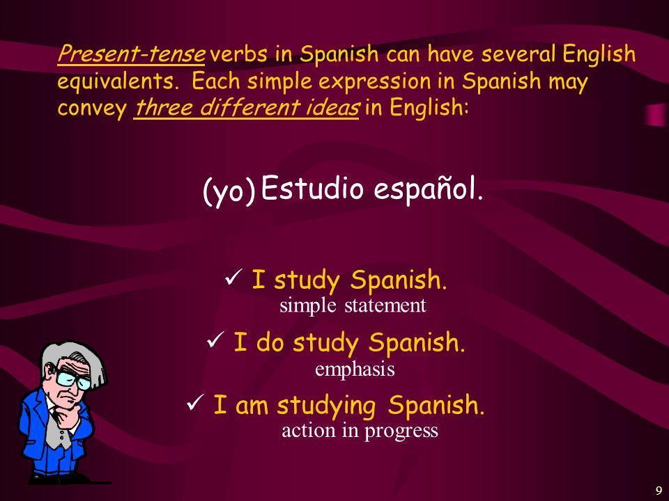19 ¿Cómo se dice en español.I answer a question in class.