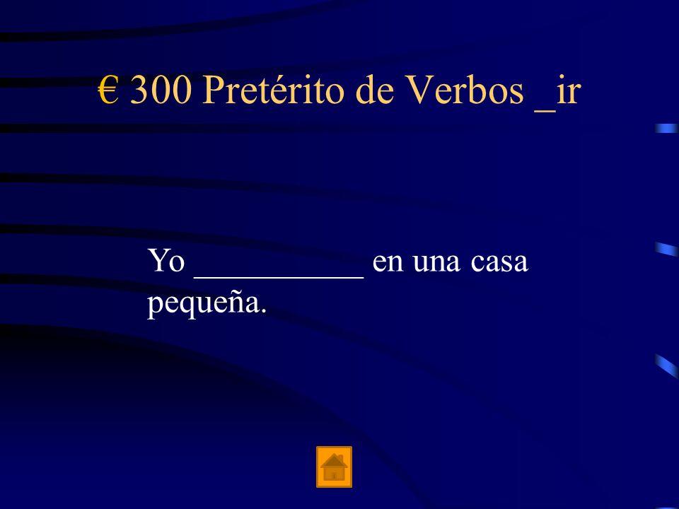 200 Pretérito de Verbos _ir Ellos (describir) su viaje ideal ____________.
