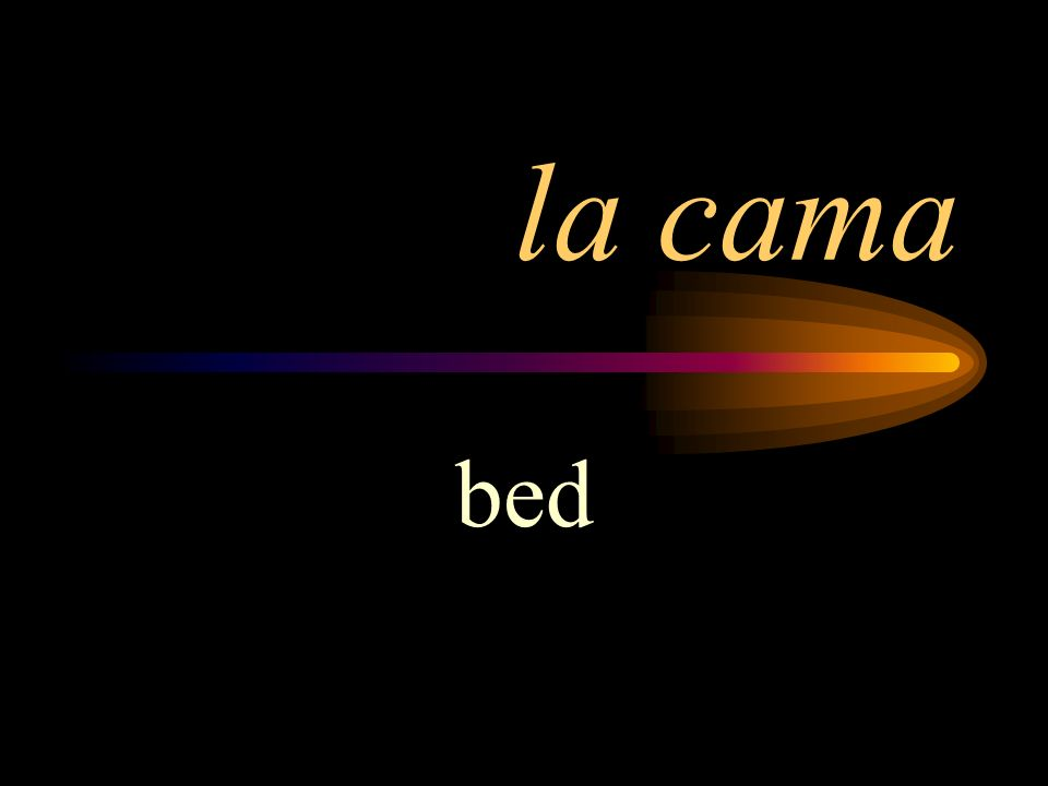 la cama bed