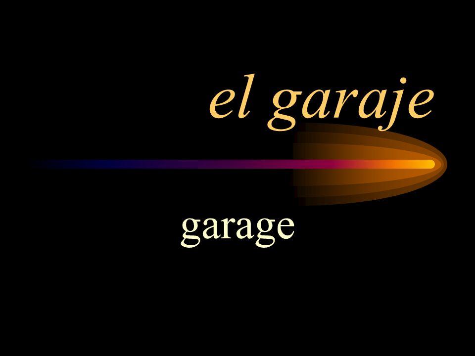 el garaje garage