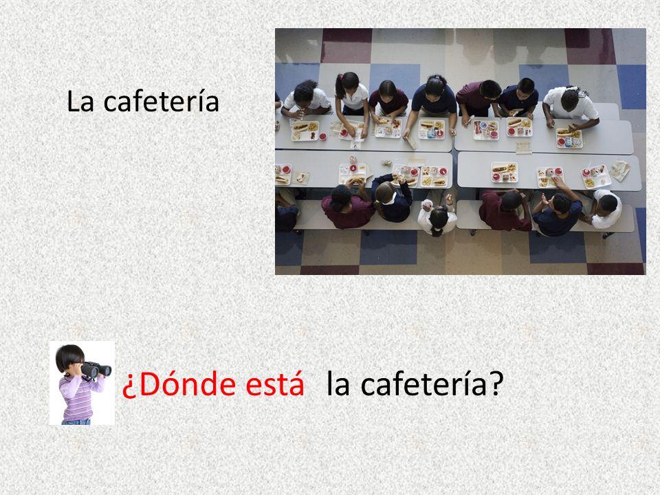 La cafetería ¿Dónde estála cafetería