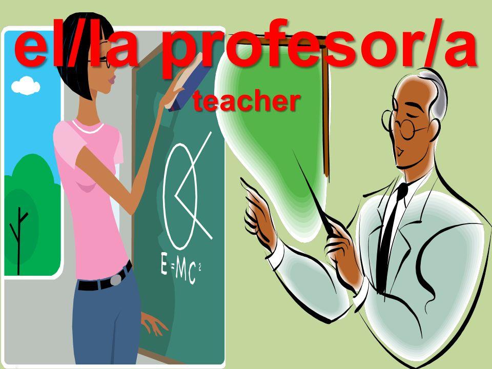 el/la profesor/a teacher
