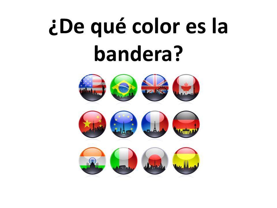 ¿De qué color es la bandera?