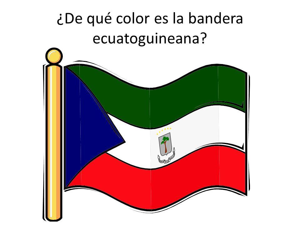 ¿De qué color es la bandera ecuatoguineana?