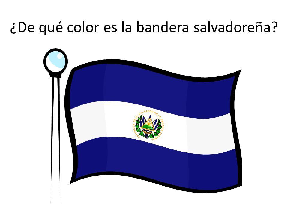 ¿De qué color es la bandera salvadoreña?