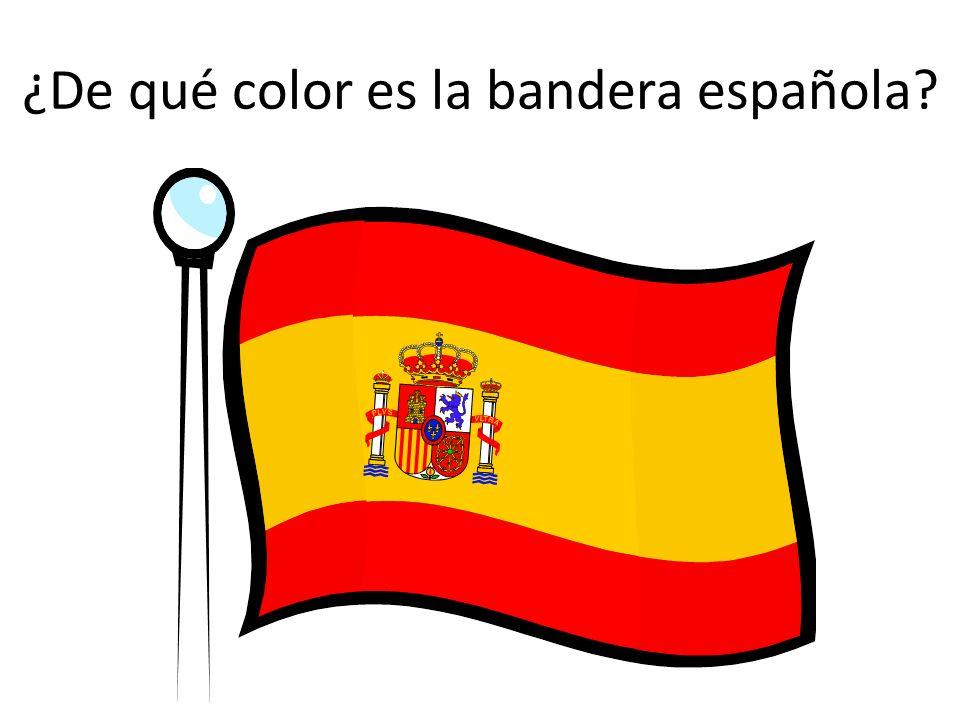 ¿De qué color es la bandera española?