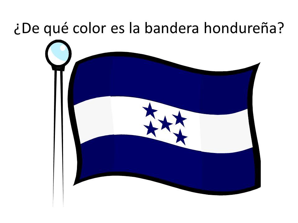 ¿De qué color es la bandera hondureña?
