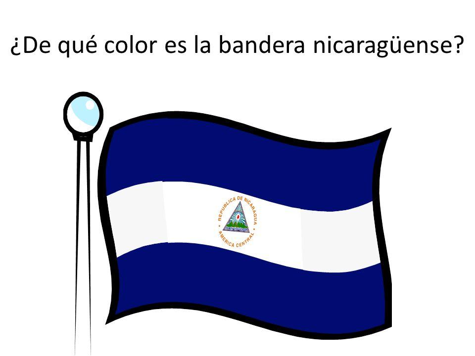 ¿De qué color es la bandera nicaragüense?