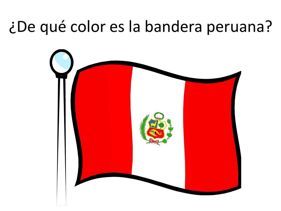 ¿De qué color es la bandera peruana?