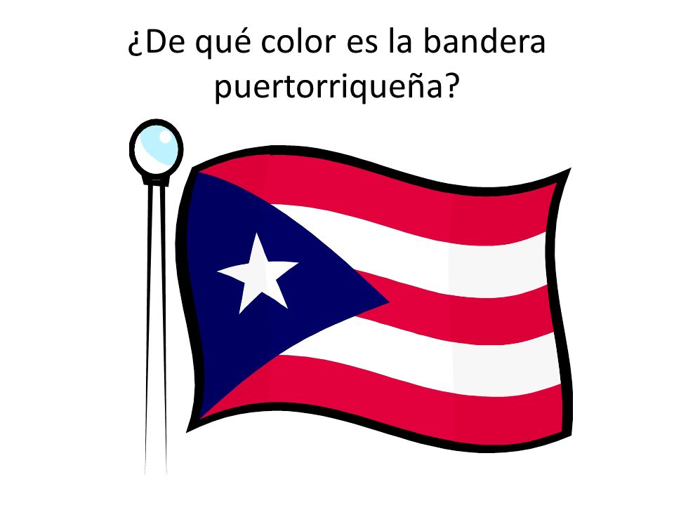 ¿De qué color es la bandera puertorriqueña?