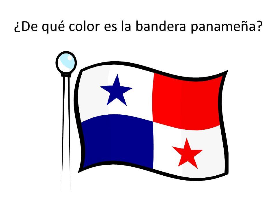 ¿De qué color es la bandera panameña?