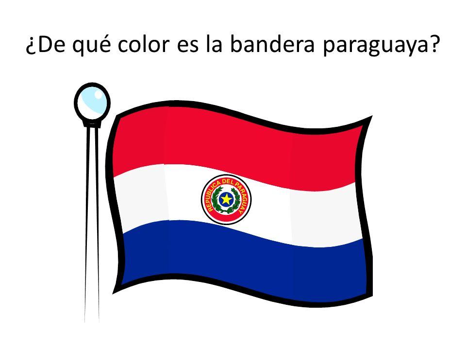 ¿De qué color es la bandera paraguaya?