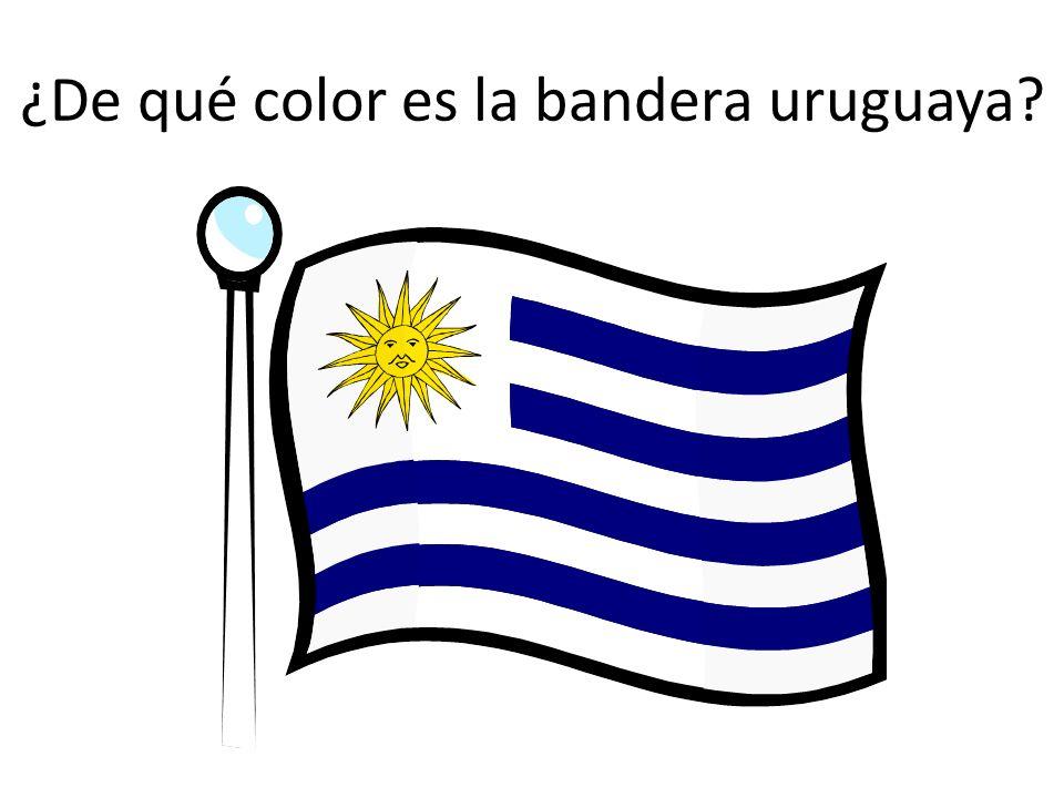 ¿De qué color es la bandera uruguaya?