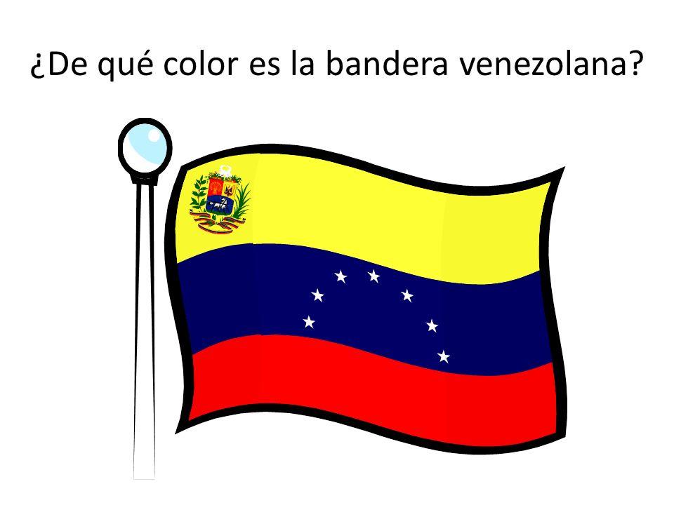 ¿De qué color es la bandera venezolana?