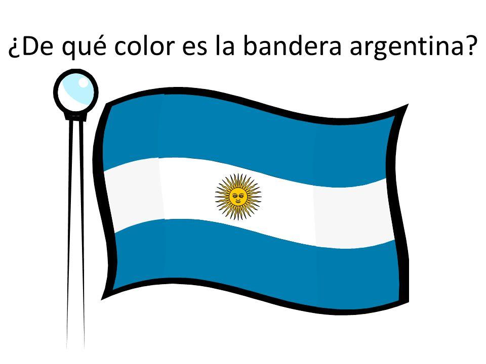 ¿De qué color es la bandera argentina?