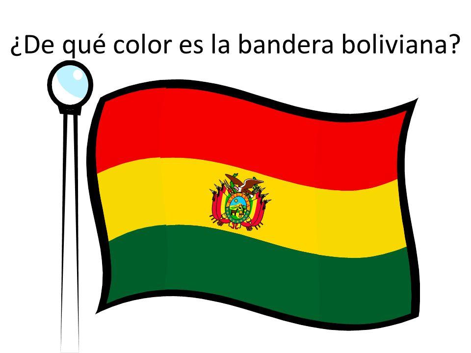 ¿De qué color es la bandera boliviana?