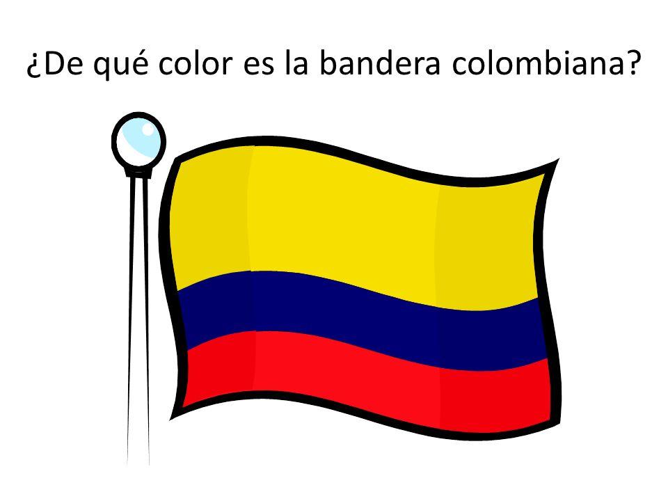 ¿De qué color es la bandera colombiana?