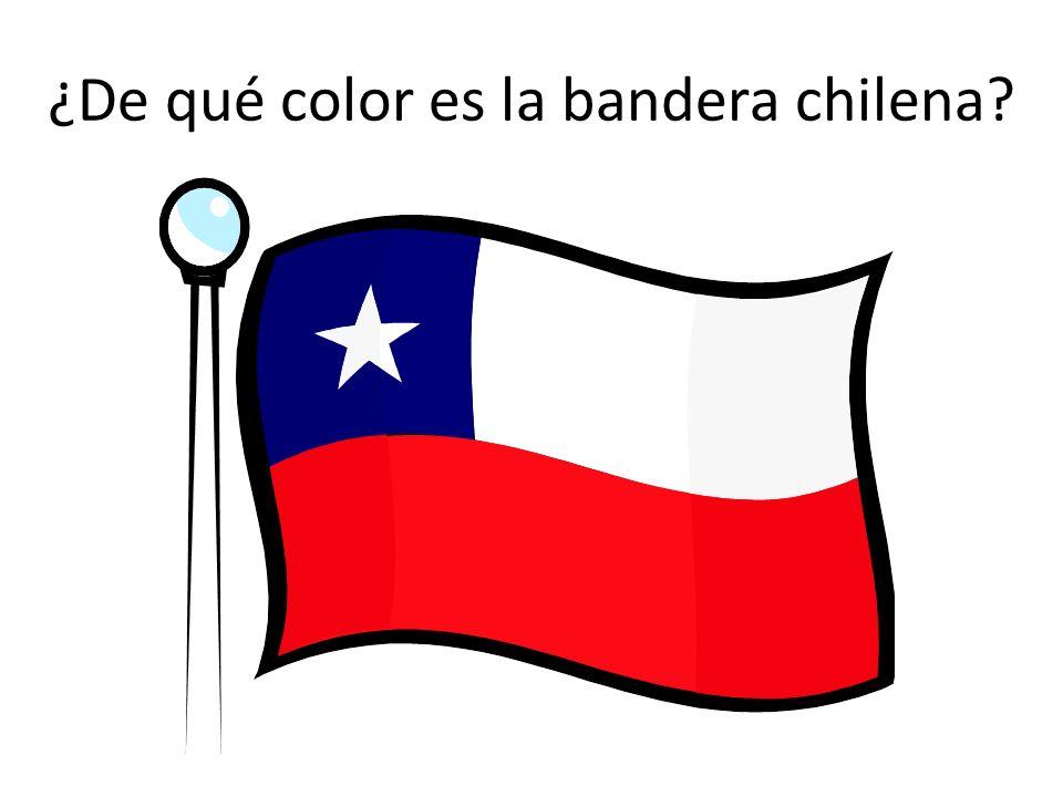¿De qué color es la bandera chilena?