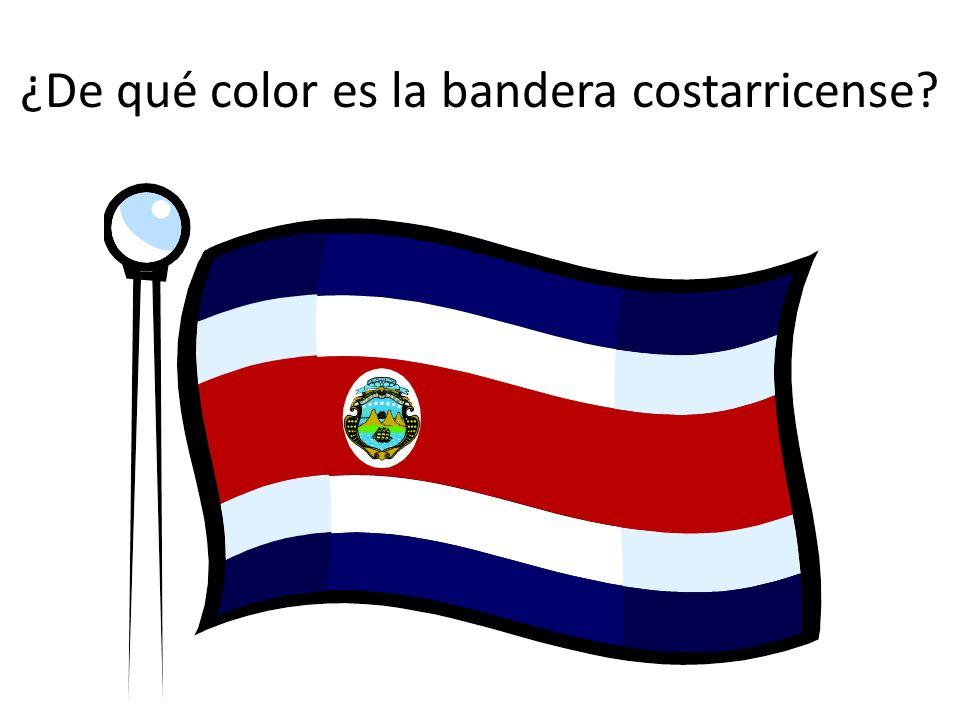 ¿De qué color es la bandera costarricense?