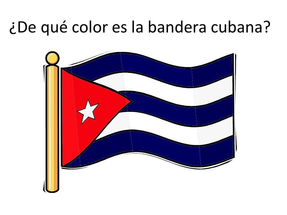 ¿De qué color es la bandera cubana?