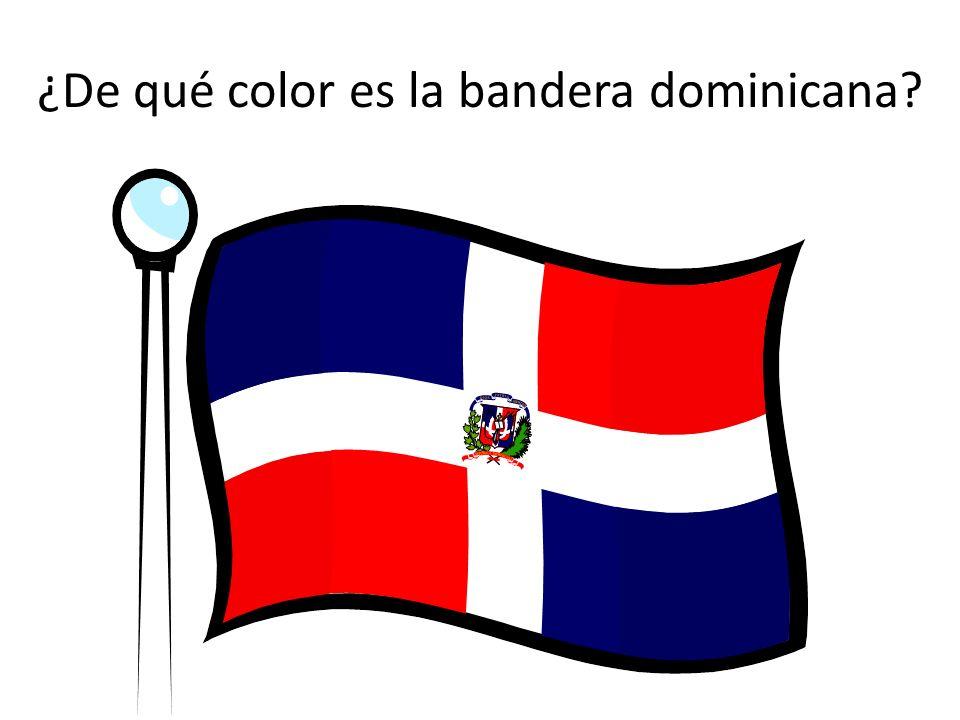 ¿De qué color es la bandera dominicana?
