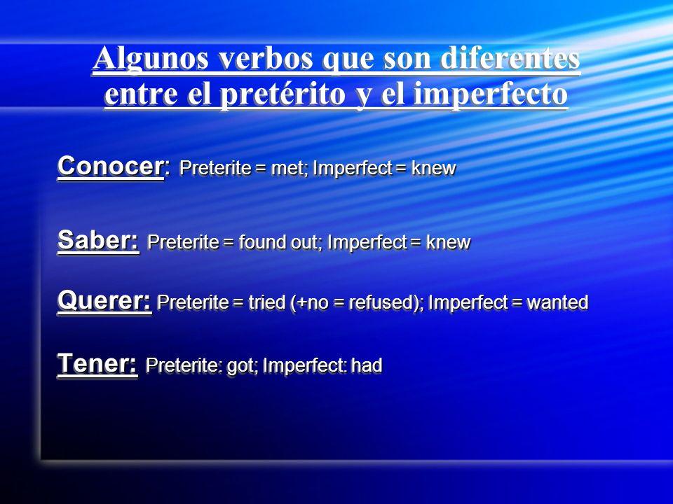 El pretérito vs.