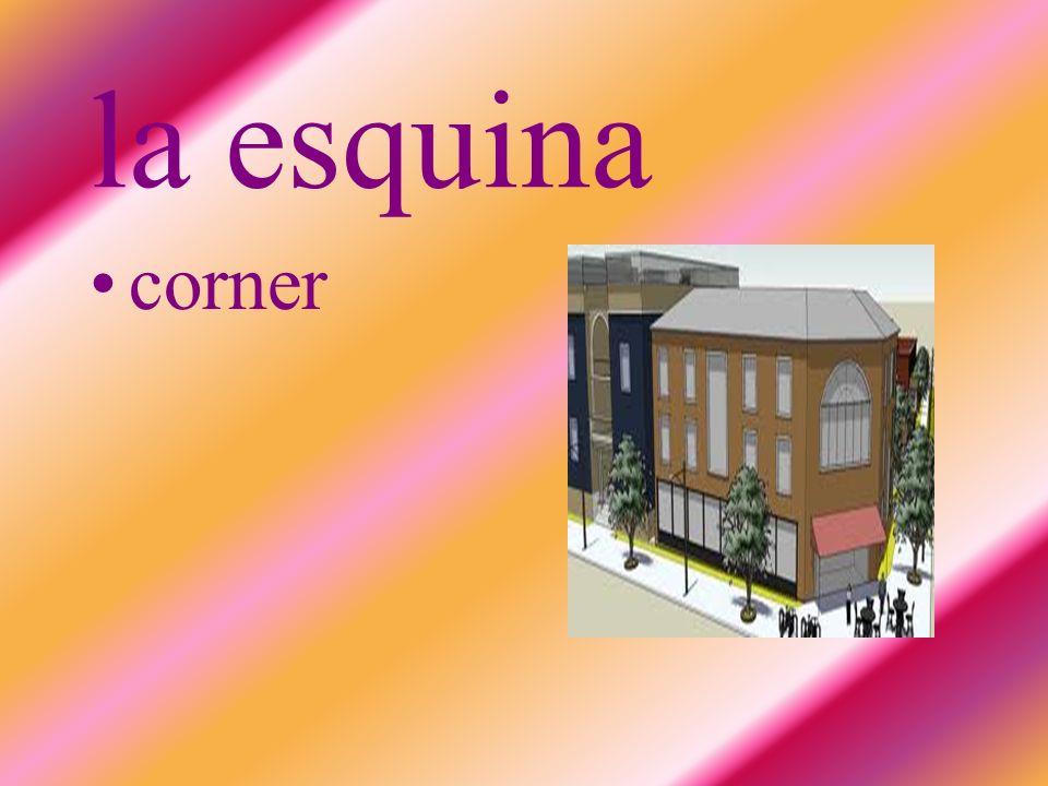 la esquina corner