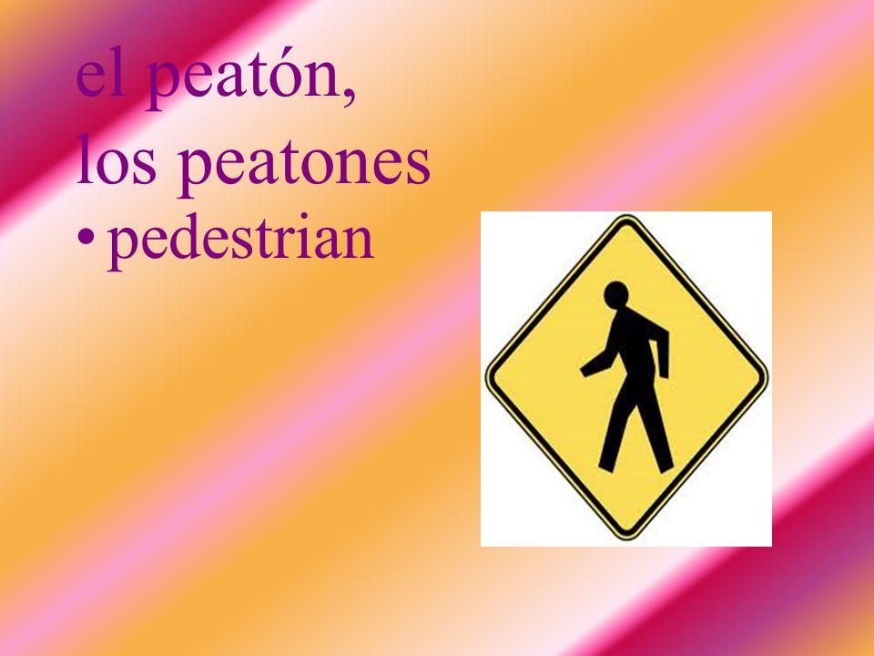 el peatón, los peatones pedestrian
