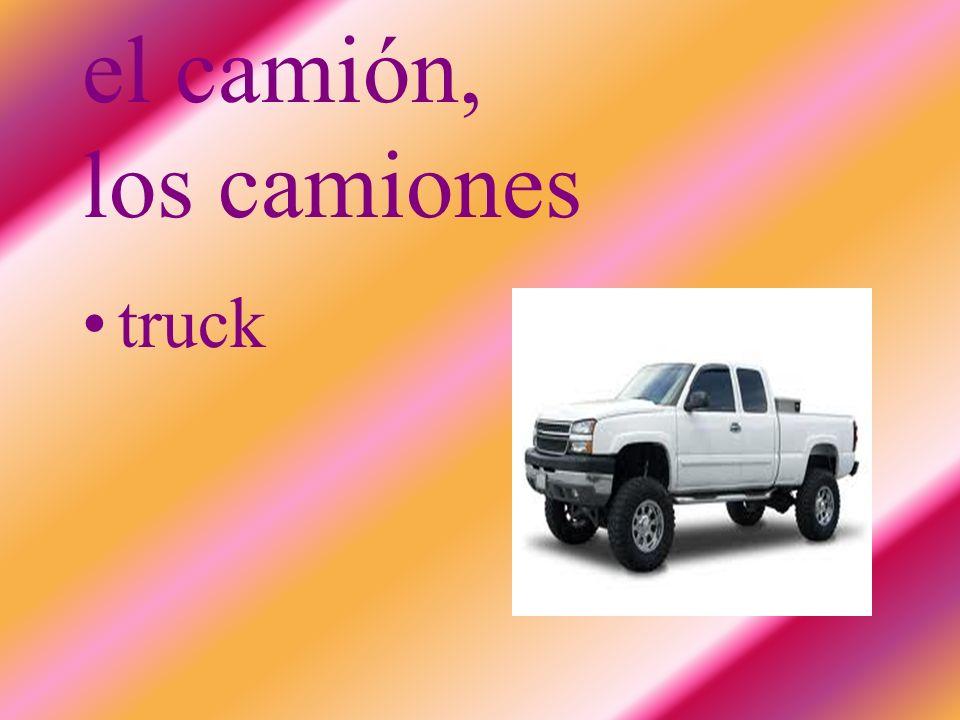 el camión, los camiones truck