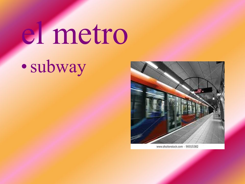 el metro subway