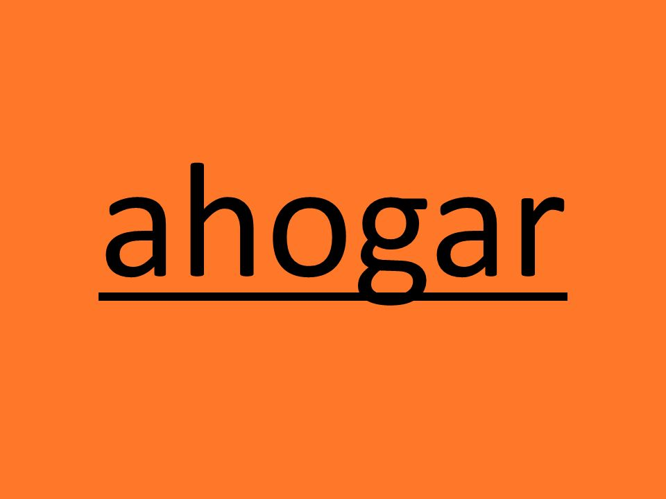 ahogar