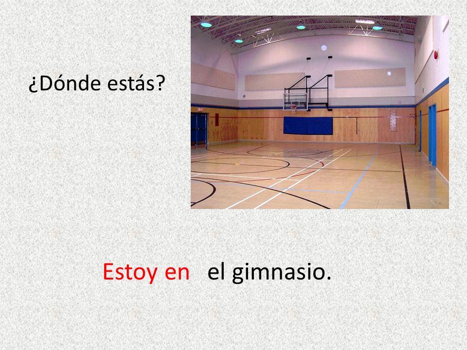 ¿Dónde estás? Estoy enel gimnasio.