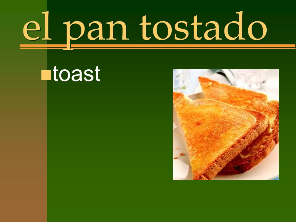 el pan tostado n toast