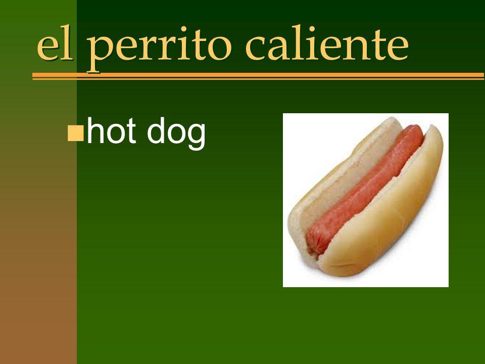 el perrito caliente n hot dog