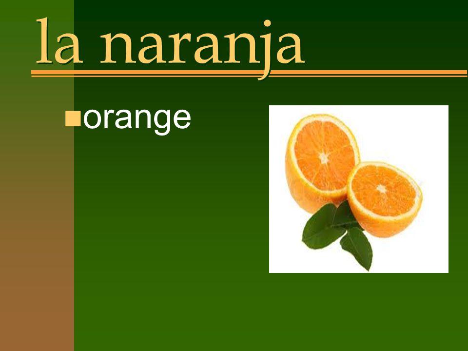 la naranja n orange
