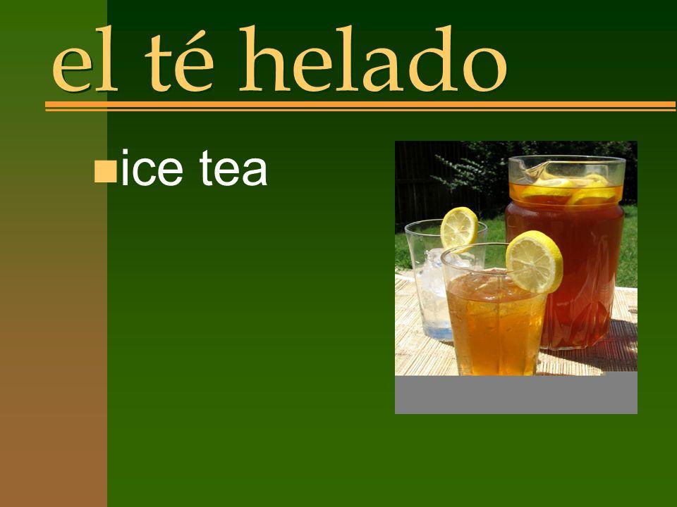 el té helado n ice tea