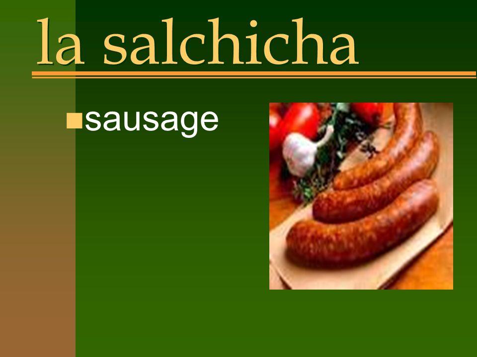 la salchicha n sausage
