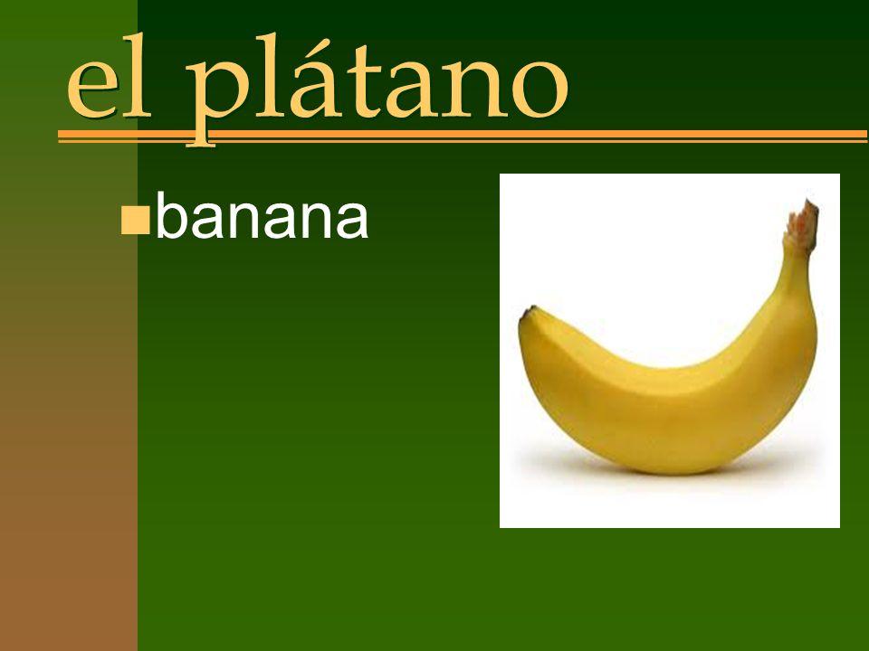el plátano n banana