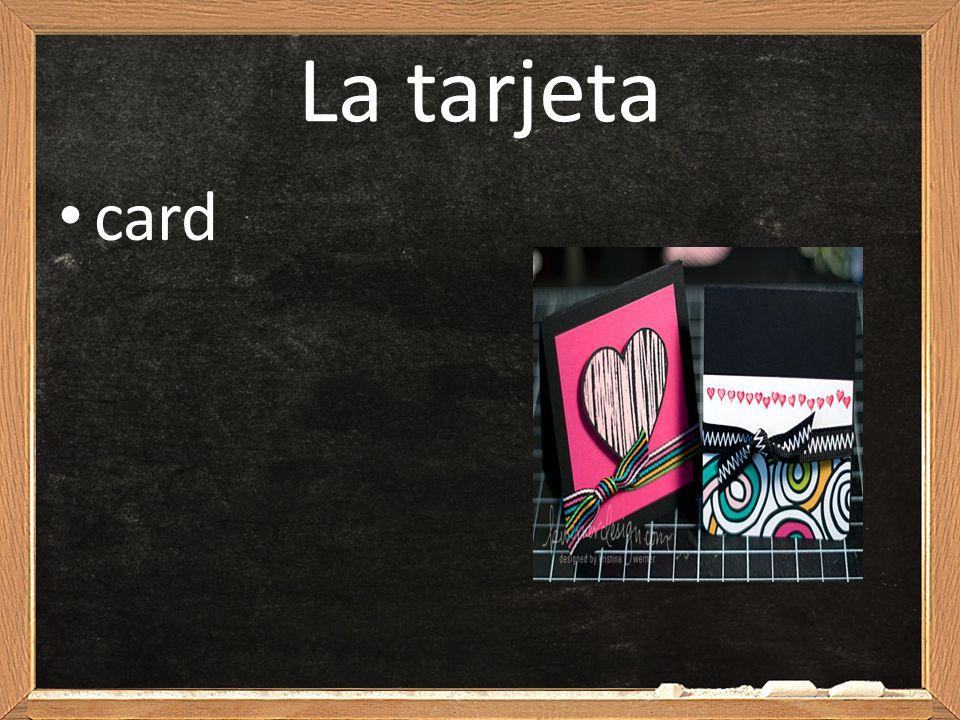 La tarjeta card