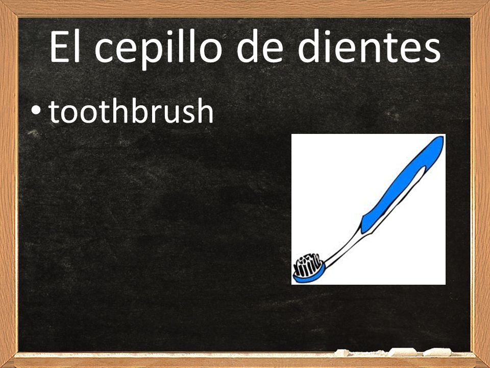 El cepillo de dientes toothbrush