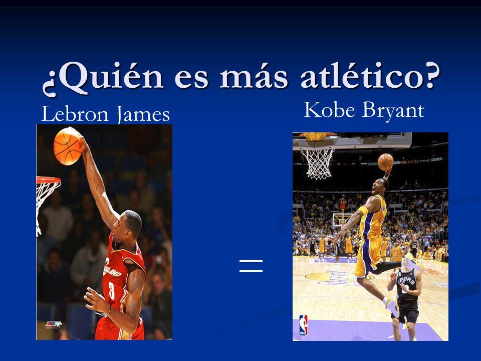 ¿Quién es más atlético? = Lebron James Kobe Bryant